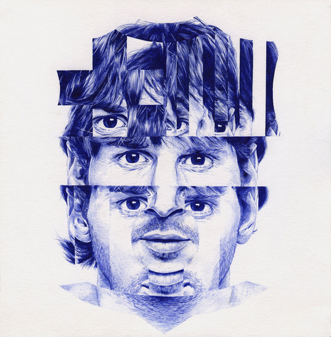 Messi ballpoint pen by Chamo San