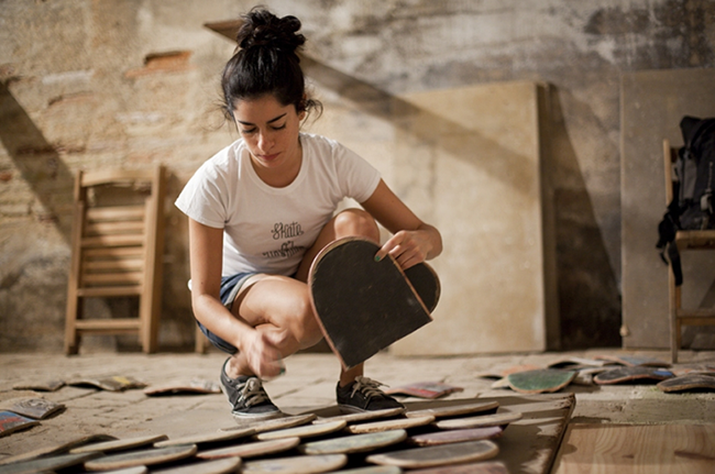María López working for Reskate at 6º Asalto Festival