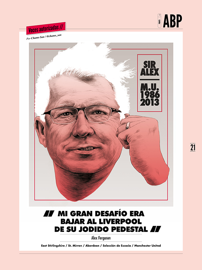 Sir Alex Ferguson for Panenka by Chamo San