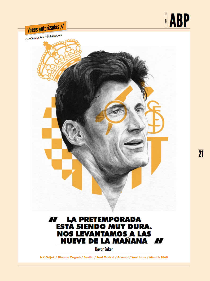 Davor Suker portrait by Chamo San for Panenka