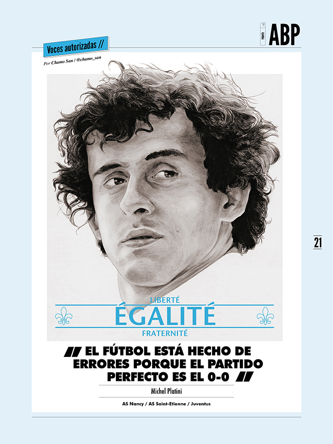Platini for Panenka by Chamo San