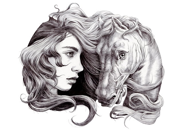 Women and Horses for Anaid Kuprui by Chamo San