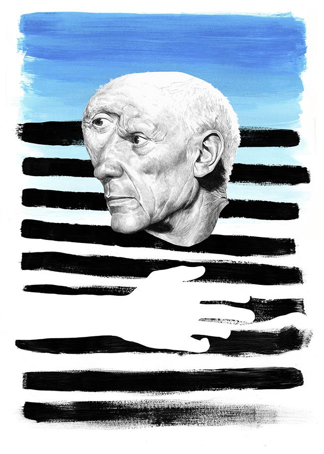 Pablo Picasso drawing dibujo per Chamo San