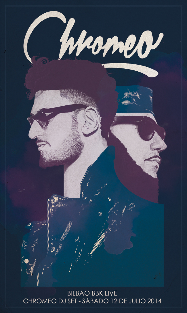 Chromeo poster by Chamo San for Bilbao BBK Live 2014