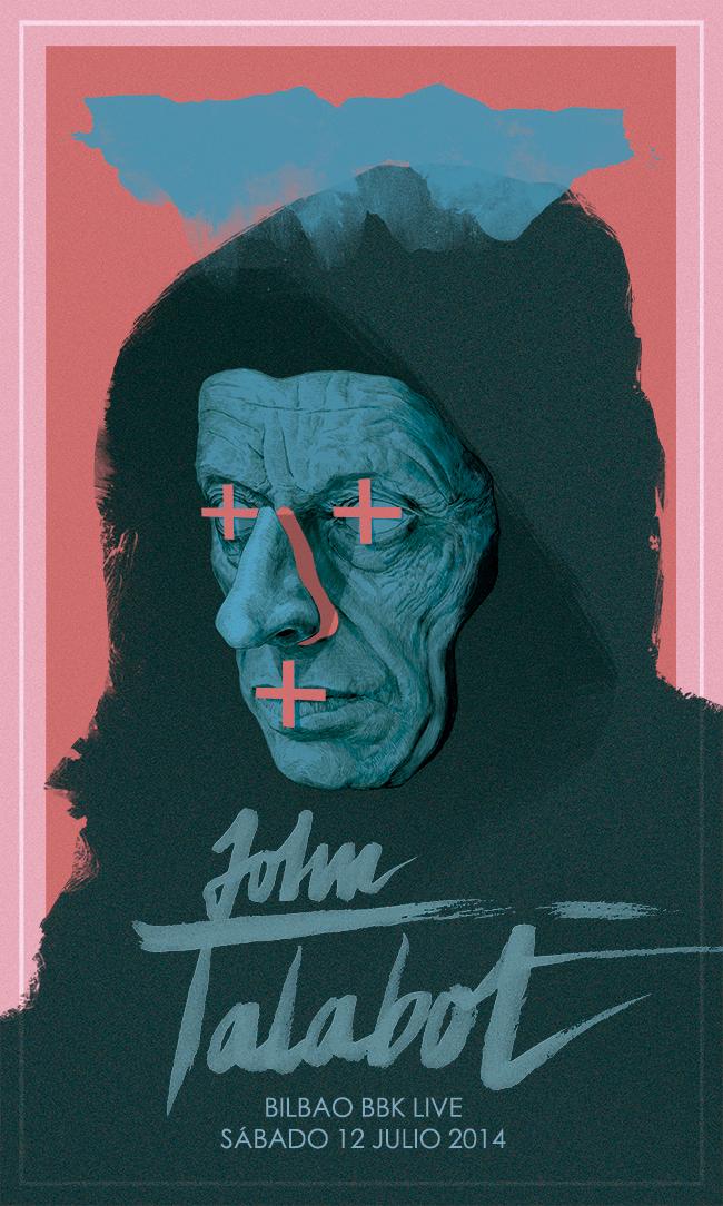 John Talabot poster for Bilbao BBK Live by Chamo San