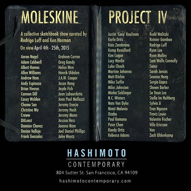 the moleskine project iv artists