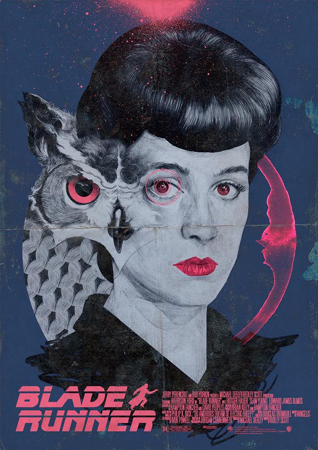 Chamo San - Blade Runner Rachel Poster